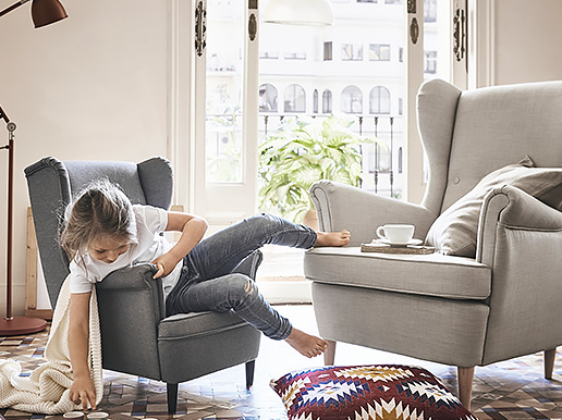 Ikea Strandmon Childrens Armchair Kids Bedroom Living