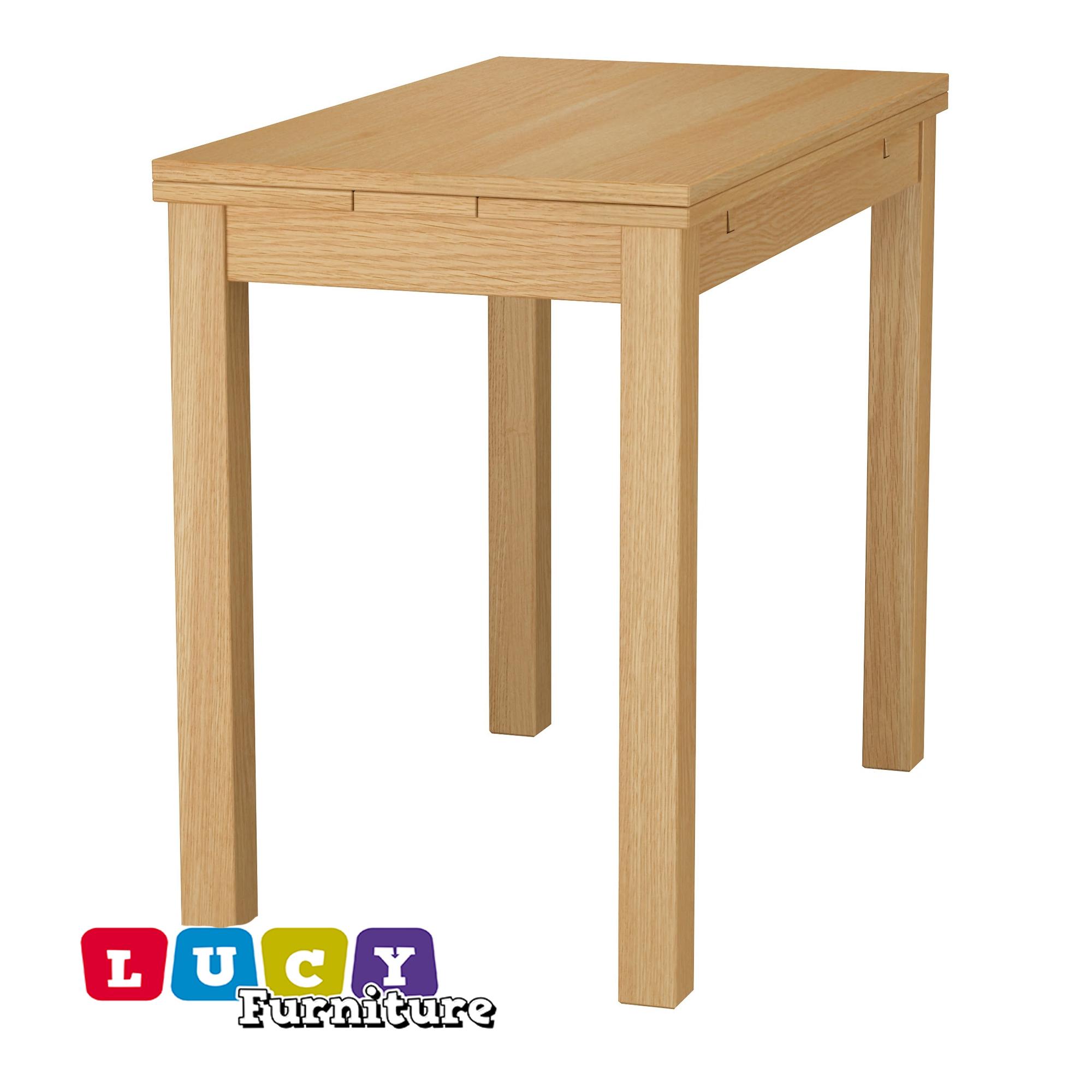 Details About Ikea Bjursta Extendable Table Oak Veneer New