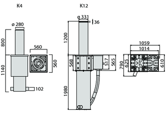 Słupek antyterrorystyczny automatyczny BFT XPASS B 275/800C L