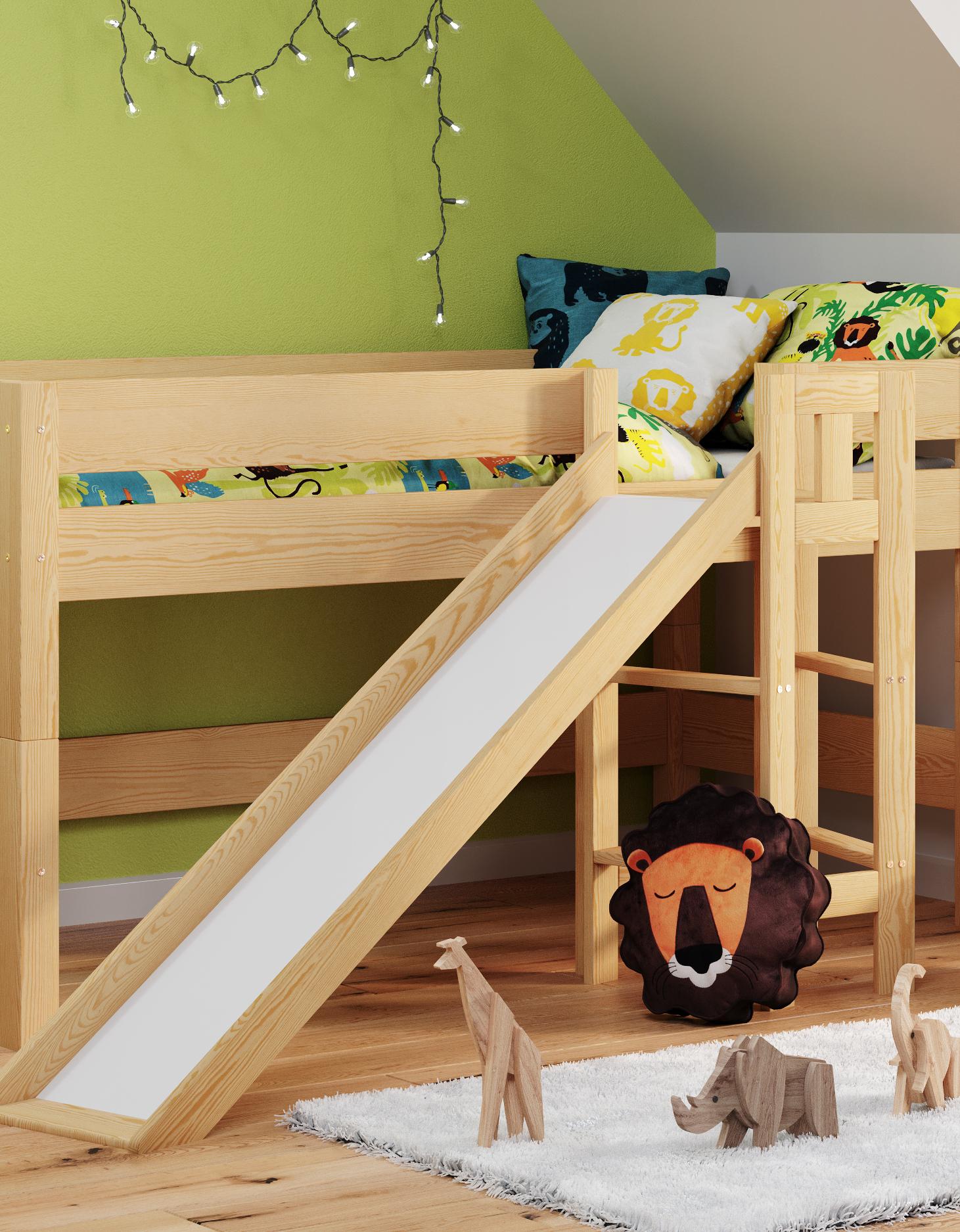 Lit Superposé Sous Pente lits mezzanine pour enfants