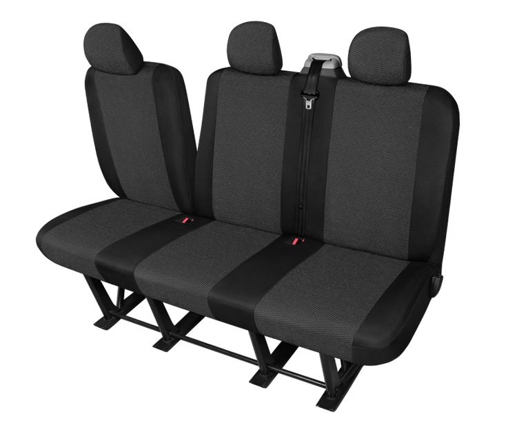 housses de si ge pour le triple canap pliant renault trafic 2001 2014 ebay. Black Bedroom Furniture Sets. Home Design Ideas