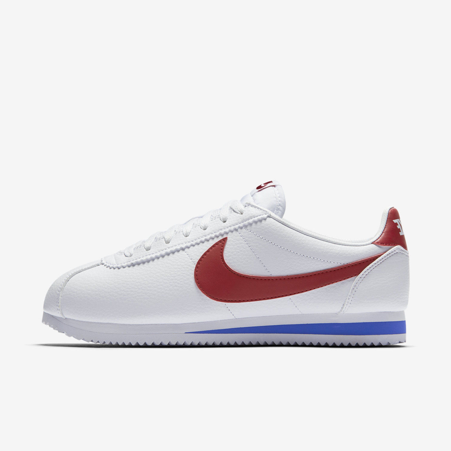 1361107aee3a8b Details about NIKE CLASSIC CORTEZ LEATHER FORREST GUMP 749571-154 WHITE  VARSITY ROYAL RED BLUE