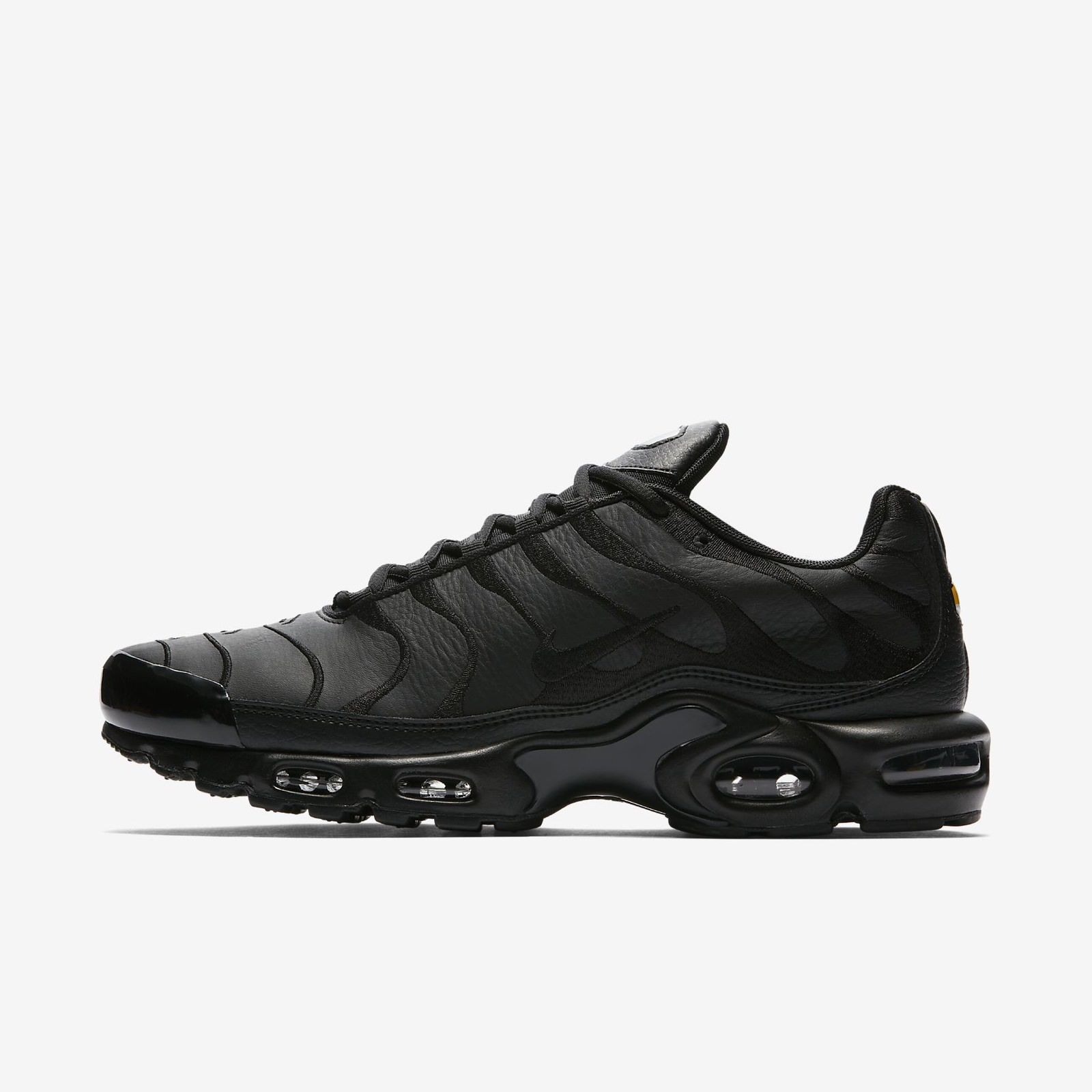 NIKE AIR MAX PLUS AJ2029-001 TRIPLE BLACK TUNED AIR TN 97 98 VAPORMAX