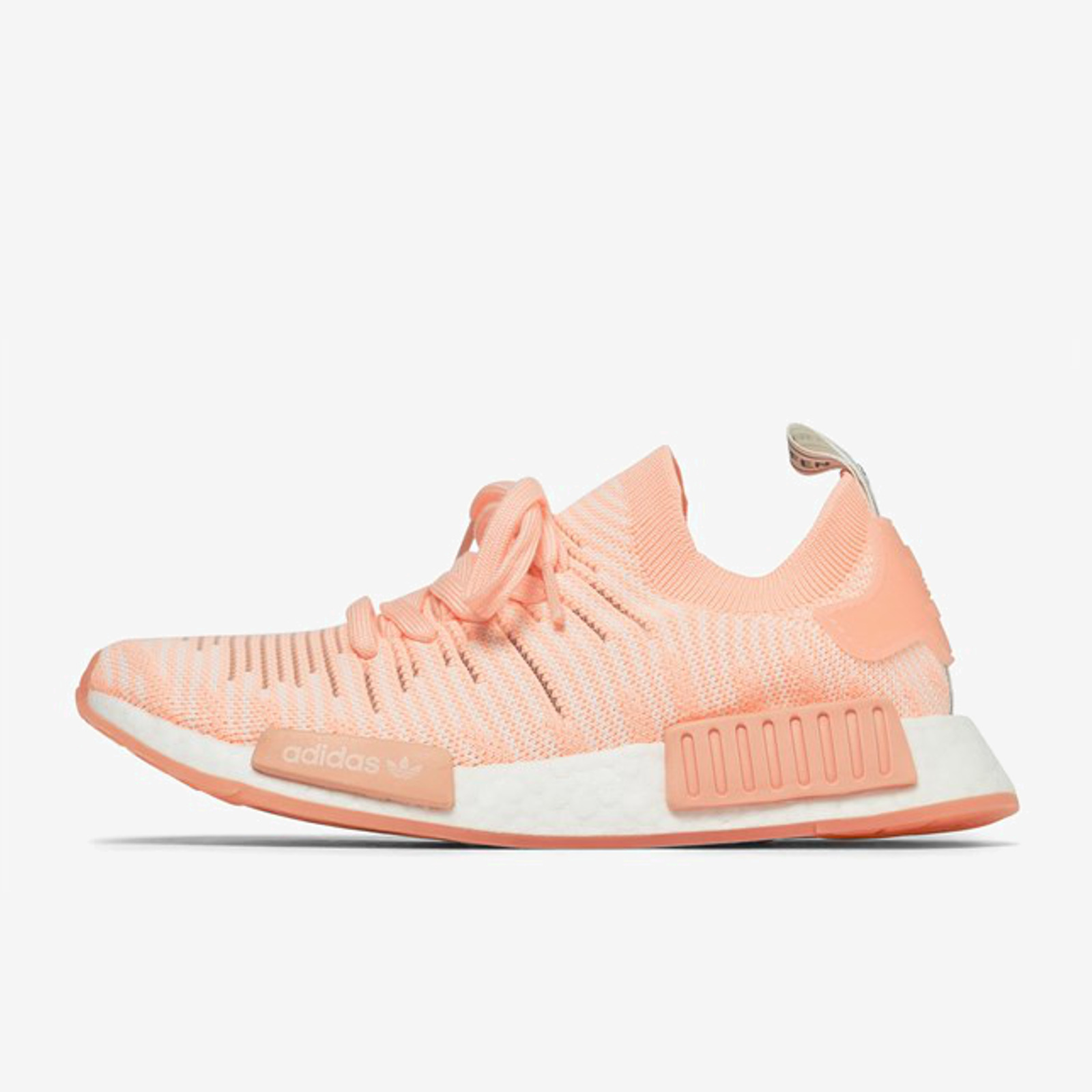 Details about ADIDAS WOMEN NMD R1 STLT PRIMEKNIT AQ1119 CLEAR ORANGE RUNNING WHITE