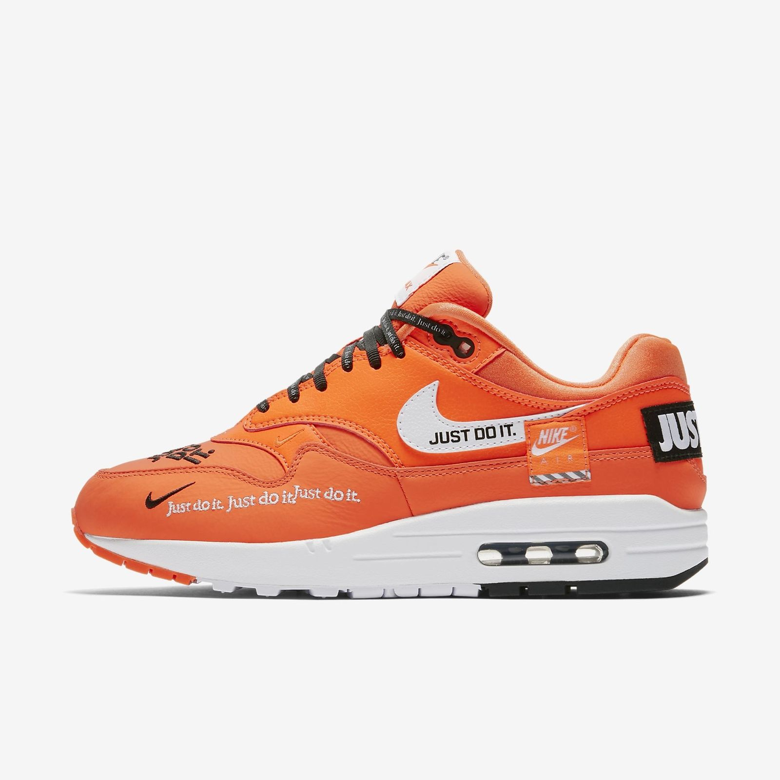 best website 7697e 41168 Details about NIKE AIR MAX 1 LX JUST DO IT 917691-800 TOTAL ORANGE WHITE  BLACK JDI