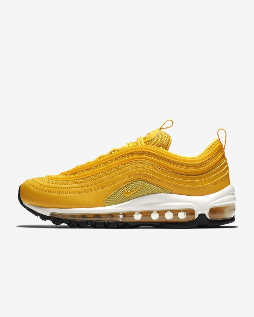 Mens Womens Sneakers Nike Air Max 97 Mustard Yellow White