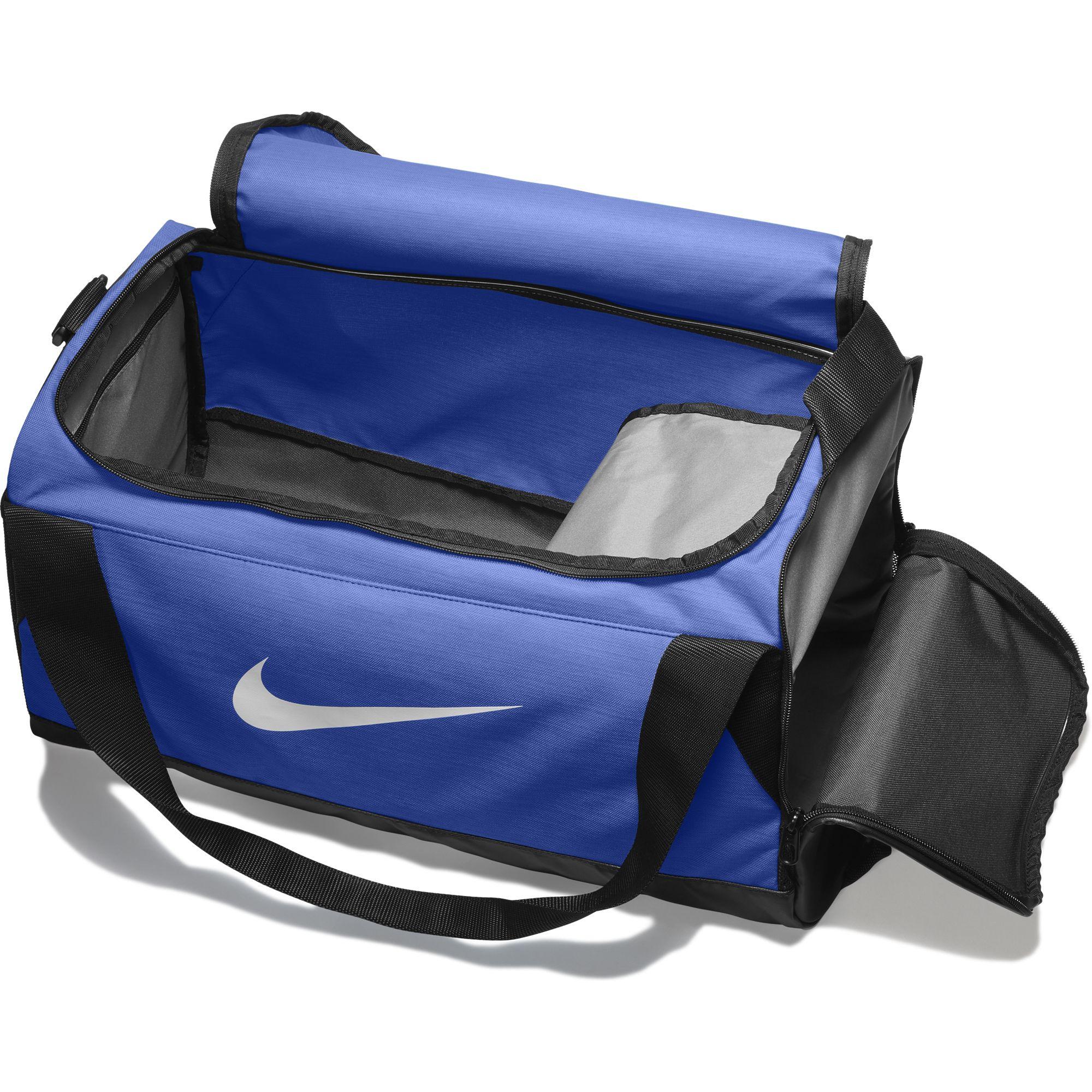 9ed0709924fbe Nike New BRASILIA Duffel Bag Training Travel Gym Sports Unisex Men ...