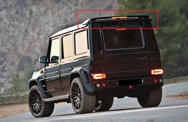 Details about MERCEDES G CLASS W460 W461 W463 REAR ROOF SPOILER WITH LIGHT  NEW G-CLASS