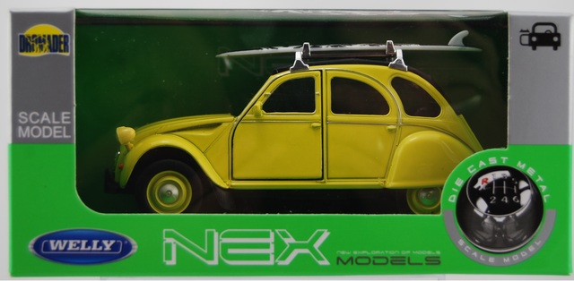 WELLY RENAULT CLIO 4 MK4 RS GREEN 1:34 DIE CAST METAL MODEL NEW IN BOX