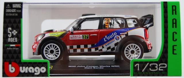 Scala 1:32 Bburago 41042 MINI John Cooper Works WRC Dani Sordo