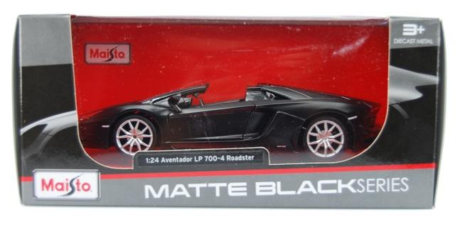"Lamborghini Aventador LP 700-4 Roadster 1:24 MAISTO  /"" matte BLACKSeries /""  NEW"