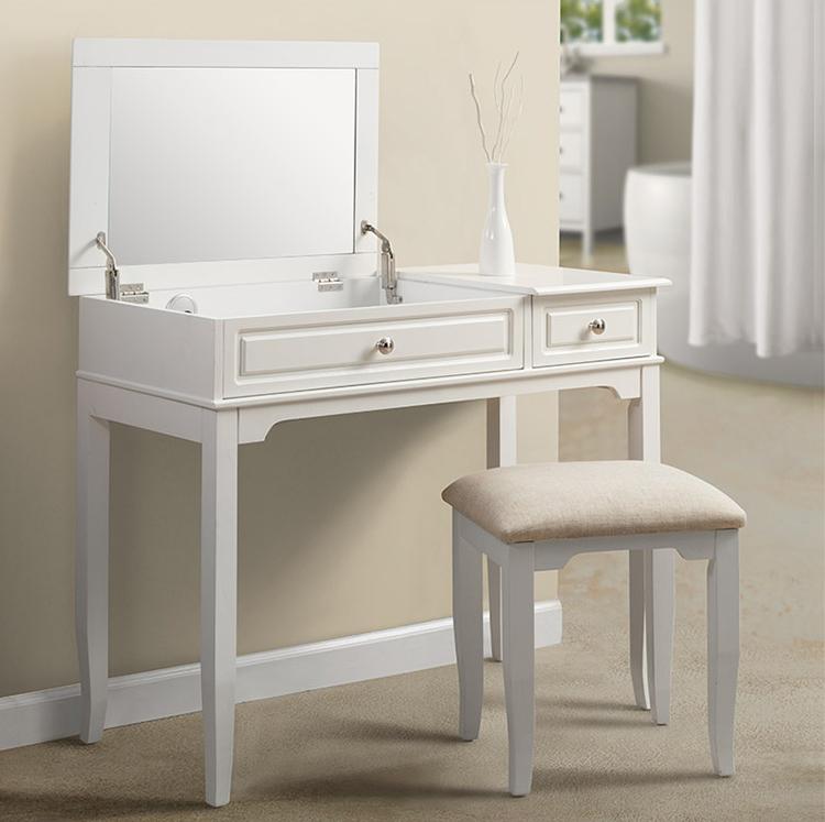 schminktisch frisiertisch kosmetiktisch weiss spiegel. Black Bedroom Furniture Sets. Home Design Ideas