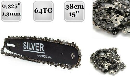 """4 Ketten passend für Husqvarna 133 33 cm 325/"""" 56 TG 1,3 mm Sägekette Schwert"""