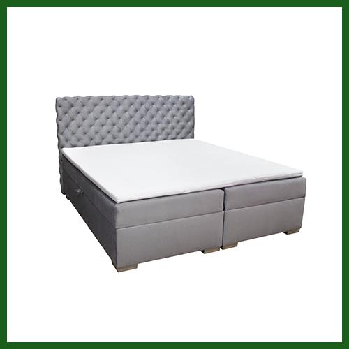 Łóżko kontynentalne tapicerowane Velvet 180x200 – WYBÓR TKANINY – DARMOWA DOSTAWA