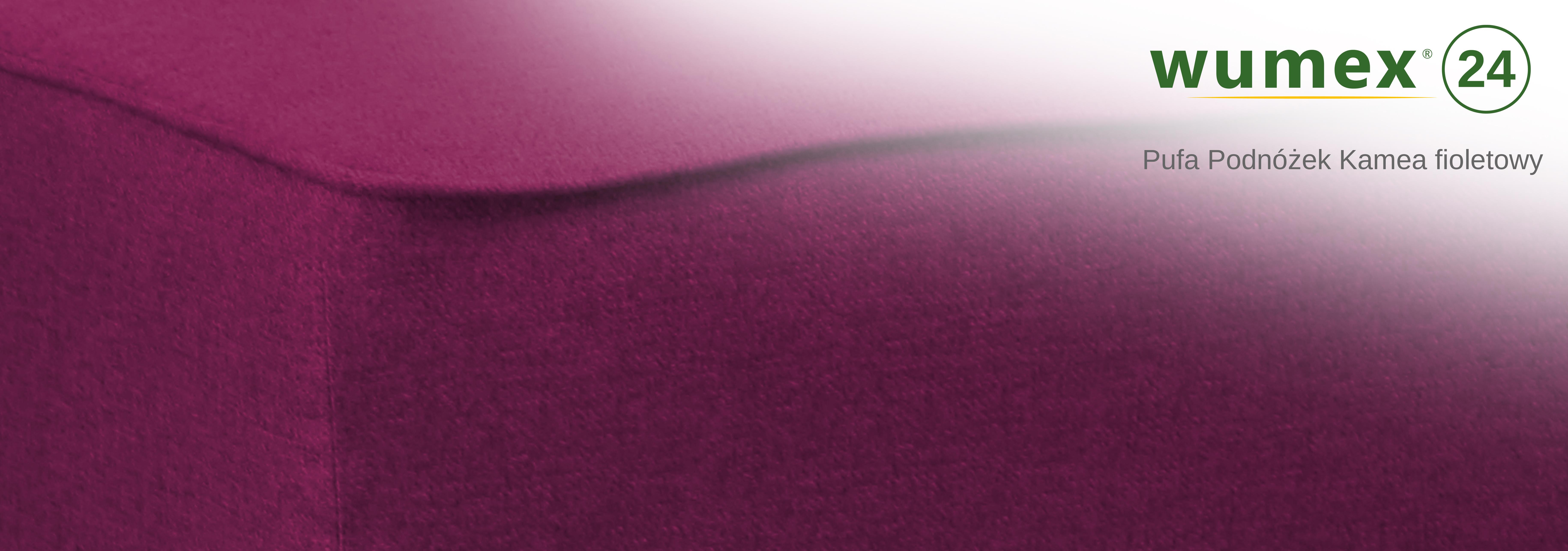 Pufa Podnóżek Kamea fioletowy – WYBÓR KOLORU NÓŻEK – DARMOWA DOSTAWA