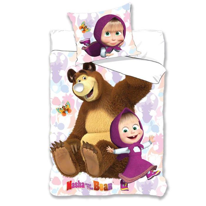 Bettwäsche Kinderbettwäsche Masha Und Der Bär 135x200 2 Teilig