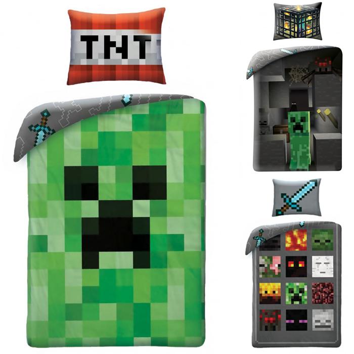 2 tlg. Bettwäsche 135x200 140x200 Minecraft 100% Baumwolle | eBay