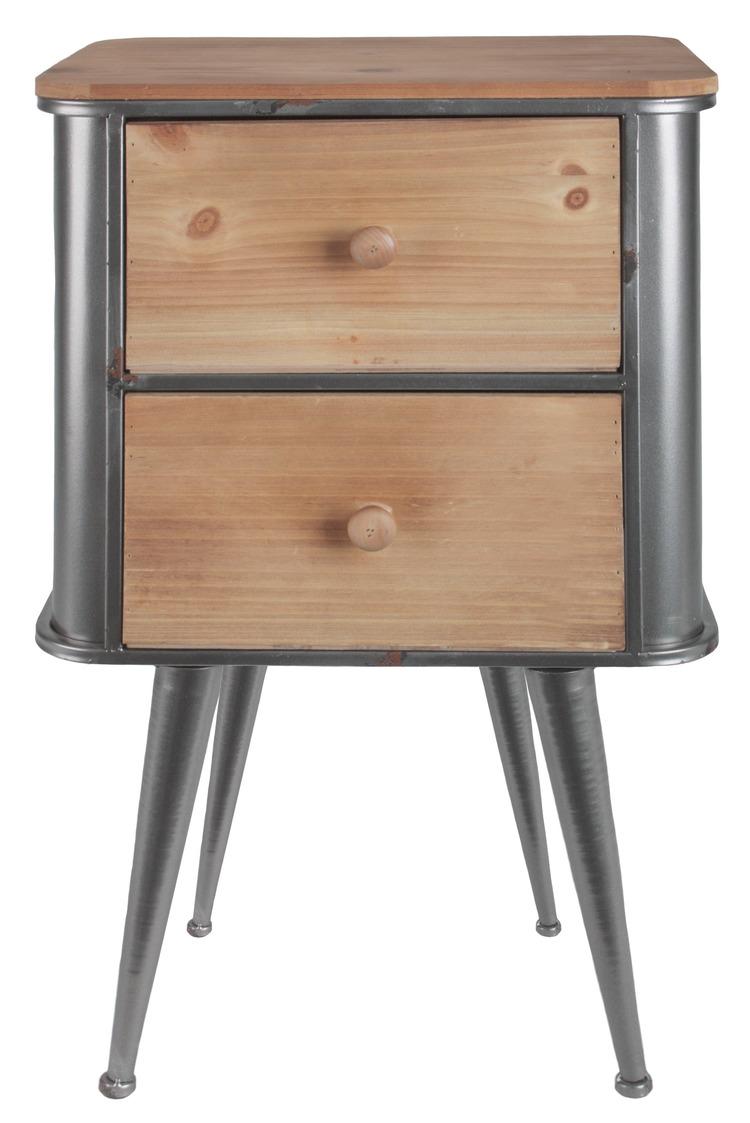 Bingo-Shop Kommode mit 2 Schubladen Nachtschrank Nachttisch Betttisch Schlafzimmer Shabby Vintage Kommode Retro Beistellschrank Schlafzimmer Schr/änkchen Wei/ß K69