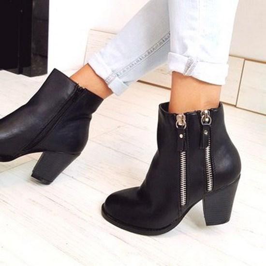 damenstiefel stiefeletten high heel mid absatz ankle boots. Black Bedroom Furniture Sets. Home Design Ideas